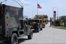 2. jízdní pluk US Army mířící na cvičení Saber Strike v Pobaltí dorazil v sobotu do Vyškova