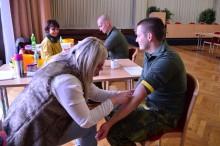 Vojáci kurzu základní přípravy opět dárci