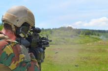 Příslušníci Střediska obsluhy výcvikového zařízení Boletice zajišťují výcvik Belgičanů