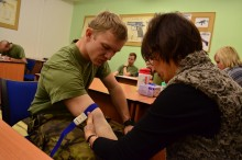 Vojáci kurzů základní přípravy opět dárci