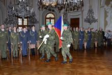 Kurz pro nižší důstojníky vyvrcholil slavnostním vyřazením ve Slavkově