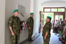 Prapor zabezpečení uctil památku 125.výročí narození plukovníka inmemoriam Ladislava Preiningera