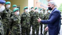 Ministr poděkoval vojákům, kteří pomáhají vmariánskolázeňské nemocnici
