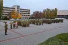 Slavnostní nástup VeV–VA ke Dni vzniku samostatného československého státu
