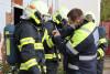 Vojenští hasiči cvičili v ohňovém trenažéru Fire Dragon 9000. Jako první vČesku si jej vyzkoušeli inaši příslušníci