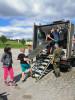 Vojáci stechnikou zpříjemnili pobyt dětem naDIA táboře